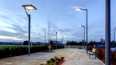 Hess Lighting at the Thorn Academy of Light in Spennymoor, England Public, Street Lamp, Exterior Lighting, Lighting Solutions, Light Decorations, Something To Do, Arch, Street Lights, Decorative Lighting