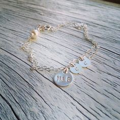 Mommy and Children Initials Bracelet