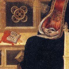 Gentile da Fabriano - Annunciazione, dettaglio - tempera e oro - 1423-1425 circa - Pinacoteca Vaticana.