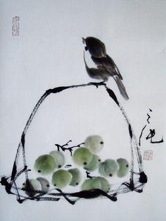 Sumi E Japanese Fish Painting Sumi E Painting, Japan Painting, Chinese Painting, Art Chinois, Chinese Drawings, Art Asiatique, China Art, Korean Art, Japan Art