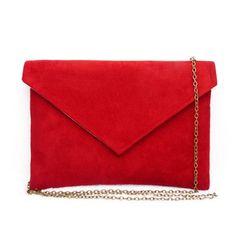 433f0a09e4a5f Pochette enveloppe rouge - pochette soirée mariage - couleur personnalisable