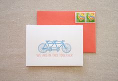 we're in this together bicycle card