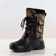 b8c0f66a2a212 2016 New Men Outdoor Waterproof Camouflage Snow Boots Fishing Shoes Men  Boots Large Size 41- · FemmesChaussures ...