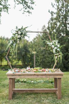 Intimate Garden Wedding Durning Covid | ElegantWedding.ca Wedding Food Catering, Wedding Food Stations, Wedding Reception Food, Wedding Vendors, Garden Wedding, Diy Wedding, Wedding Day, Wedding Shoppe, Magical Wedding