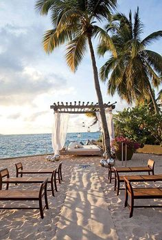 Destination Wedding Style: A Glamorous Wedding in the Caribbean Seaside Wedding, Mod Wedding, Wedding Ceremony, Destination Wedding, Dream Wedding, Reception, Happy Movie, Glamorous Wedding, Ceremony Decorations