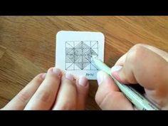 Zentangle® Pattern: Amy - YouTube