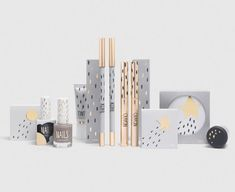 Packaging for Top Shop Cosmetics based on festival. Great illustrated details!