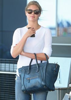 The Many Bags of Kate Upton Leslie Mann, Celine Luggage, Dior Sunglasses,  Cover f1c8b25375