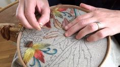 Crewel Embroidery Seed Stitch Gradient Leaves - YouTube