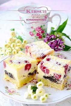 Kirschmohnkuchen mit Schmandguss | Pink Sugar | Bloglovin'
