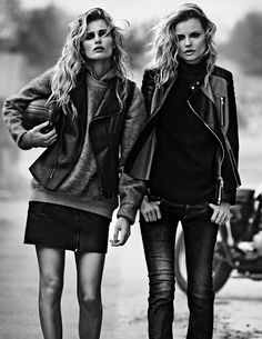 senyahearts:  Models: Magdalena Frackowiak and Edita Vilkeviciute for W, Sept. 2013
