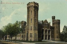 Postcard of Ogdensburg Elizabeth Street Armory