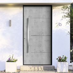 Concrete look, concrete feel - and yet no concrete! Art-Beton is a modern ve . Modern Entrance Door, House Entrance, Entrance Doors, Zen Home Decor, House Front Door, External Doors, Minimal Decor, Door Design, Windows And Doors