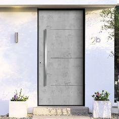 Beton-Optik, Beton-Haptik – und doch kein Beton!  Art-Beton ist ein moderner Verbundwerkstoff aus einer flexiblen mineralischen Basis  mit natürlichen Marmoranteilen, viel leichter als Beton und deshalb flexibel einsetzbar.  Haustüren mit einer Füllung aus Art-Beton verleihen der Fassade ein einzigartiges Ambiente.Sie erhalten alle Modelle dieses Herstellers in unseren Onlineshop www.1001-Tuer.de .