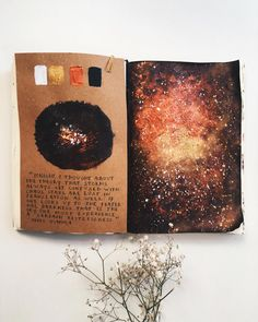 I tried out my new paint the other evening and this is the result ✨ artjournal artjournalsessions fire watercolorarts Bullet Art, Bullet Journal Art, Bullet Journal Ideas Pages, Bullet Journal Inspiration, Art Journal Pages, Art Journals, Doodle Drawing, Galaxy Painting, Fire Painting