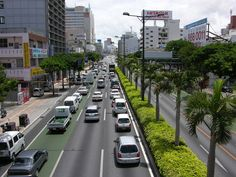 Naha, Okinawa- Driving on the other side of the road!