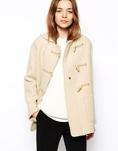 Enlarge Gloverall Duffle Coat in Boiled Wool with Shawl Collar