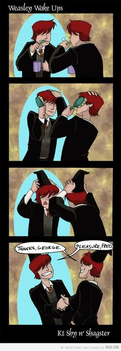 Oh the Weasley twins...