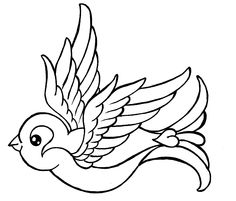 Traditional Sparrow Tattoo by ~Metacharis on deviantART