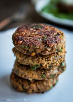 The best lentil burger recipe. I make these at least once a week!: