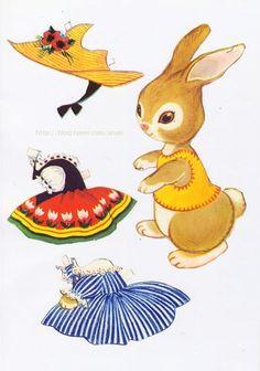 종이인형 (rabbit) : 네이버 블로그