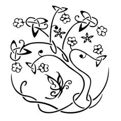 oak tree of life / dara, stylized with butterfly / fairy #celtic #tattoo