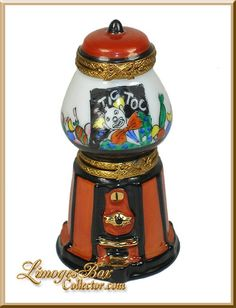 Double-Hinged Gumball Machine Limoges Box - Retired