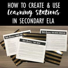 How to Create Learning Stations to Engage Students: The Design Process - Write on With Miss G
