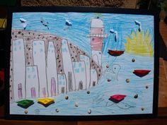 καρυδότσουφλο : Καλοκαιρινός - κυκλαδίτικος πίνακας δια χειρός μικ...