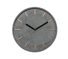 Hochwertige Beton-Uhr Wanduhr in Grau Kupfer - 28cm rund ... https://www.amazon.de/dp/B015H7XWLY/ref=cm_sw_r_pi_dp_x_d5b8xbHGM1PZE