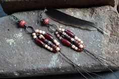 Hey, I found this really awesome Etsy listing at https://www.etsy.com/listing/233034879/tribal-shoulder-duster-earrings-feminine
