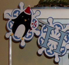 Happy Birthday Banner Snowflakes and Penguins  by APaperPlayground, $15.00