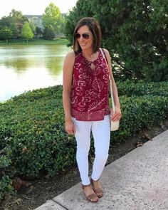 Really need some comfy white pants or capri pants.  Like the top too.