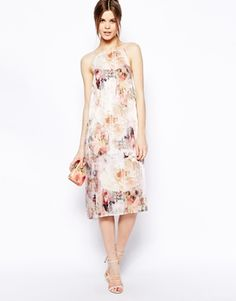 Enlarge ASOS High Neck Printed Slip Dress