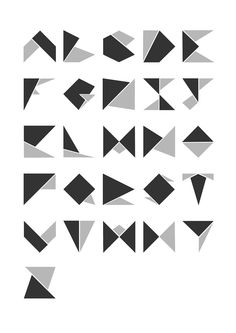 'Shelby' Typeface on Behance Typography Design, Logo Design, Lettering, Graphic Design, Twilight Stars, Type Face, Origami, Initials, Art Projects