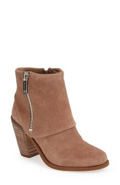 Free shipping and returns on Jessica Simpson 'Caufield' Bootie (Women) at Nordstrom.com. A fixed cuff relaxes the vibe of an essential suede bootie made modern with a chunky stacked heel.