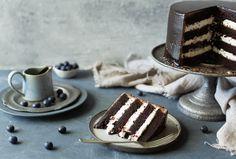 Chocolate Icing, Decadent Chocolate, Old Fashioned Chocolate Cake, 2 Layer Cakes, Baking Tins, Vanilla Essence, Vanilla Cream, Cake Flour, Serving Dishes