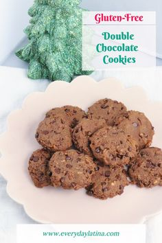 Double Chocolate Almond Flour Cookies - Everyday Latina Delicious Chocolate, Chocolate Flavors, Chocolate Cookies, Delicious Recipes, Yummy Food, Almond Flour Cookies, Homemade Cookies, Dessert For Dinner, Unsweetened Cocoa