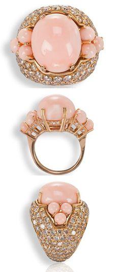 Baleani Alta Gioielleria. Collezione GUSCIO: Coral, diamonds, rose gold