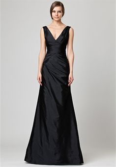 I'm a big fan of black bridesmaid dresses, and this one could even be a mother of the bride gown.