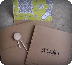 fabric lined cd/dvd envelopes