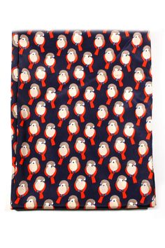 Silky Robin Scarf - what an adorable bird print!!!