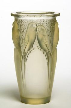 Ceylon Vase - Rene Jules Lalique c1924 - Art Nouveau - Origin: France, Materials: Verre Opalescent