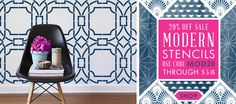 Modern stencils 20% off this weekend only
