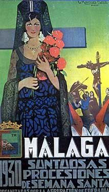 Semana Santa, Málaga. Spanish Holidays, Holy Week, Andalusia, Vintage Travel Posters, Illustrations And Posters, Religious Art, European Travel, Movie Posters, Image