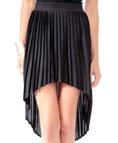 Pleated High-Low Skirt forever21