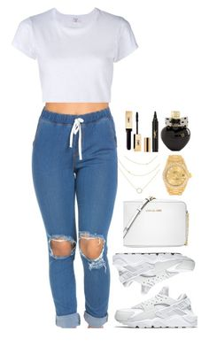 A fashion look from June 2016 featuring white short sleeve shirt, nike footwear and shoulder handbags. Browse and shop related looks. Swag Outfits, Dope Outfits, Fall Outfits, Summer Outfits, Casual Outfits, Cheap Outfits, Dope Fashion, Fashion Killa, Teen Fashion