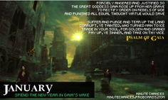 RPG | Resources | Directory | Roleplaying | Distant Fantasies | 2015 Calendar Challenge - January by Rennat