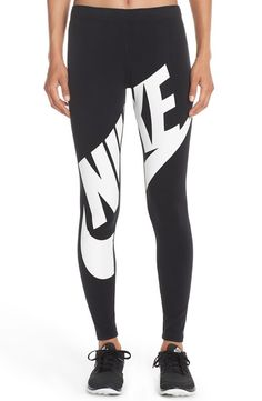 'Leg-A-See' Exploded Logo Leggings