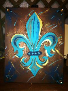 Fancy Fleur De Lis- Peace Of Art By MelKay (I take orders!)
